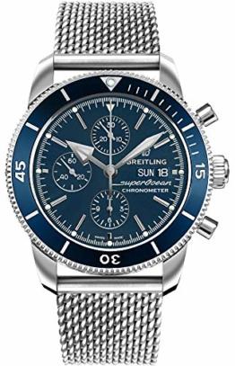 Breitling Superocean Heritage II Chronograph 44 blaues Zifferblatt Herrenuhr A13313161C1A1 - 1