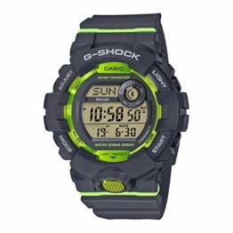 Casio G-SHOCK Digital Herren-Armbanduhr GBD-800 weiß, Schrittzähler, Bewegungssensor, kostenlose Fitness-App zum Download, 20 BAR - 1