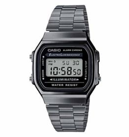 Casio Herren Digital Japanischer Quarz Uhr mit Edelstahl Armband A168WEGG-1AEF - 1