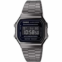 Casio Herren Digital Japanischer Quarz Uhr mit Edelstahl Armband A168WEGG-1BEF - 1