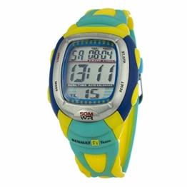 Chronotech Unisex Erwachsene Analog Quarz Uhr mit Gummi Armband CT8198M-19 - 1