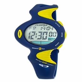 Chronotech Unisex Erwachsene Analog Quarz Uhr mit Gummi Armband CT8199M-17 - 1