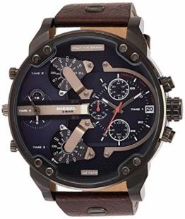 Diesel Herren-Uhren Analog Quarz One Size 86523655 - 1