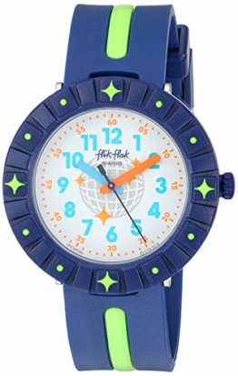 Flik Flak Kinder 1906 Vibes Quarz Kunststoffarmband blau 16 Casual Watch (Modell: ZFCSP090) - 1