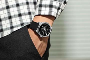 Herren Automatische einzigartige Uhr 50M Wasserdicht mit Lederband Leuchtend und Edelstahlgehäuse - 4