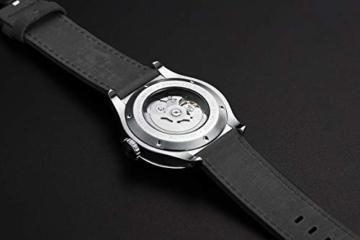 Herren Automatische einzigartige Uhr 50M Wasserdicht mit Lederband Leuchtend und Edelstahlgehäuse - 5