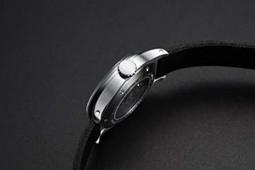 Herren Automatische einzigartige Uhr 50M Wasserdicht mit Lederband Leuchtend und Edelstahlgehäuse - 7