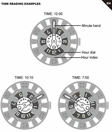 Herren Automatische einzigartige Uhr 50M Wasserdicht mit Lederband Leuchtend und Edelstahlgehäuse - 8