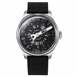 Herren Automatische einzigartige Uhr 50M Wasserdicht mit Lederband Leuchtend und Edelstahlgehäuse - 1