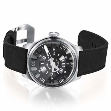 Herren Automatische einzigartige Uhr 50M Wasserdicht mit Lederband Leuchtend und Edelstahlgehäuse - 2
