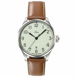 LACO Valencia Herren Armbanduhr, braunes Kalbslederband, Saphirglas, Ø 42 mm, Automatik, Marineuhr, inkl. Etui - 861651.2 - 1