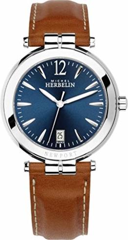 Michel Herbelin Herren Uhr 11254/AP15GO Newport Leder Quarz - 1