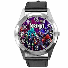 Taport® Armbanduhr für FORTNITE Fans aus Leder, Schwarz - 1