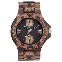 WEWOOD Herren Analog Quarz Smart Watch Armbanduhr mit Holz Armband WW40001 - 1