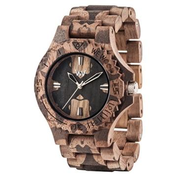 WEWOOD Herren Analog Quarz Smart Watch Armbanduhr mit Holz Armband WW40001 - 2