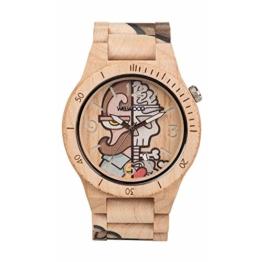 WEWOOD Herren Analog Quarz Smart Watch Armbanduhr mit Holz Armband WW53002 - 1