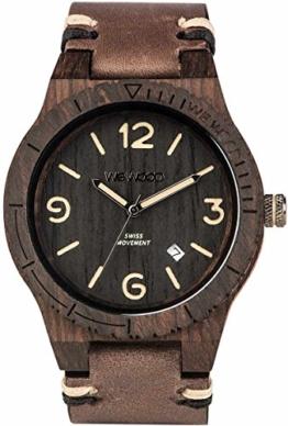 WEWOOD Herren Analog Quarz Smart Watch Armbanduhr mit Leder Armband WW08008 - 1