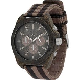 WEWOOD Herren Analog Quarz Smart Watch Armbanduhr mit Stoff Armband WW56002 - 1