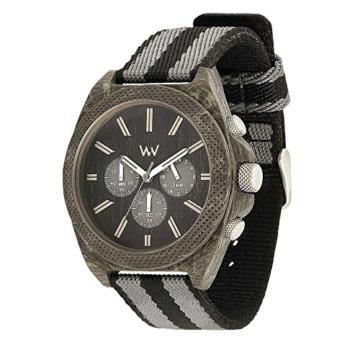 WEWOOD Herren Chronograph Quarz Smart Watch Armbanduhr mit Stoff Armband WW56001 - 2