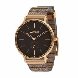 WeWood Holz-Armbanduhr Albacore Rose Gold Black Choco WW63004 - 1