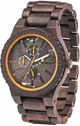 WeWood Holz-Armbanduhr Kos Choco Camo WW30005 - 1