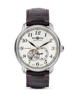 Zeppelin Herren - Armbanduhr Analog Automatik Leder 7666-5 - 1