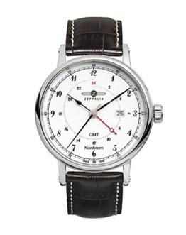 Zeppelin Herren-Armbanduhr Nordstern Analog Quarz Leder 75461 - 1