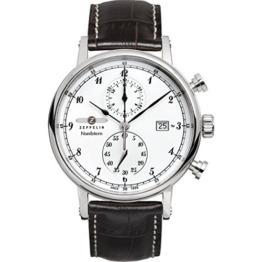 Zeppelin Herren-Armbanduhr Nordstern Chronograph Quarz Leder 75781 - 1