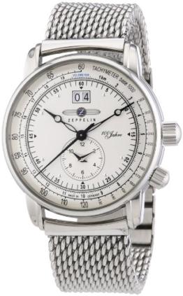 Zeppelin Herren-Armbanduhr XL Analog Quarz Edelstahl 7640M1 - 1