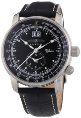 Zeppelin Herren-Armbanduhr XL Analog Quarz Leder 76402 - 1