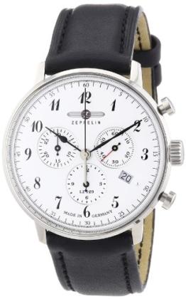 Zeppelin Herren-Armbanduhr XL LZ 129 Hindenburg Chronograph Quarz Leder 70861 - 1