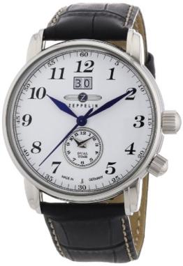 Zeppelin Herren-Armbanduhr XL LZ127 GRAF Analog Quarz Leder 76441 - 1