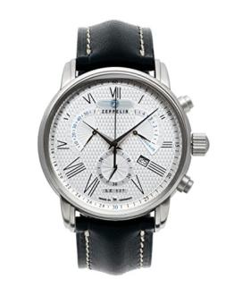 Zeppelin Herren-Armbanduhr XL LZ127 Transatlantik Chronograph Quarz Leder 76824 - 1