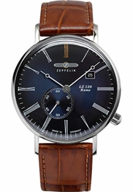 Zeppelin Herren-Uhren Analog Quarz One Size Kalbsleder 87354091 - 1