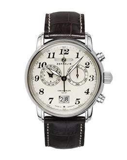 Zeppelin Herrenuhr Chronograph Quarz mit Lederarmband – 76845 - 1