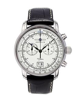 Zeppelin Herrenuhr Chronograph Quarz mit Lederarmband – 76901 - 1