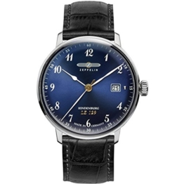 Zeppelin Unisex Chronograph Quarz Uhr mit Leder Armband 7046-3 - 1