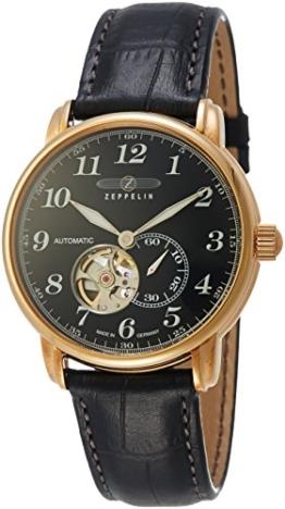 Zeppelin Unisex Chronograph Quarz Uhr mit Leder Armband 7668-2 - 1