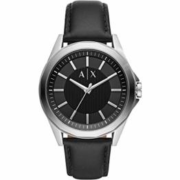 Armani Exchange Herren Analog Quarz Uhr mit Leder Armband AX2621 - 1
