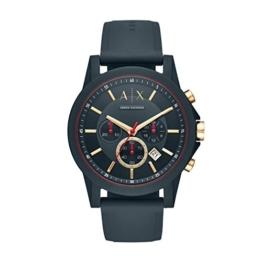 Armani Exchange Herren Analog Quarz Uhr mit Silikon Armband AX1335 - 1