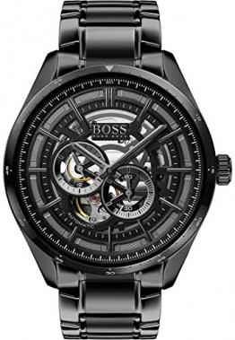 Boss Herren-Uhren Analog Automatik One Size Schwarz/schwarz 32011956 - 1