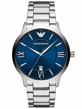 Emporio Armani Herren Analog Quarz Uhr mit Edelstahl Armband AR11227 - 1