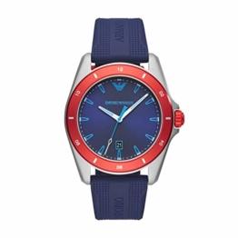 Emporio Armani Herren Analog Quarz Uhr mit Silikon Armband AR11217 - 1