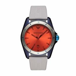 Emporio Armani Herren Analog Quarz Uhr mit Silikon Armband AR11218 - 1