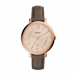Fossil ES3707Jacqueline DREI Hand-Damen-Leder-Armband–Grau und Rosa Ton Gold - 1