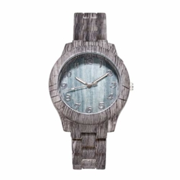 Herren Uhr Plastik Automatik Mode Holzmaserung Uhr Einfache Digitale Holzmaserung Quarz Uhren Chronograph - 1