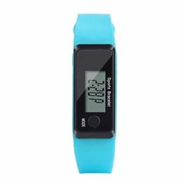 Jyuter12 Handgelenk Sport Fitness Uhr Armband Bildschirm Motion Tracker Digitale LCD Schrittzähler Laufen Schritte Kalorienzähler Armband - 1