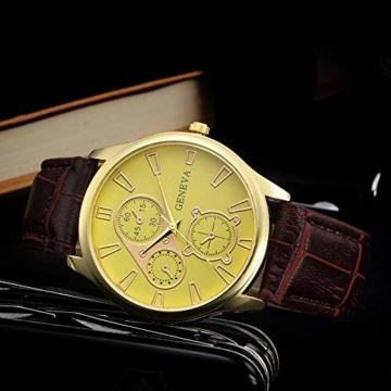 Jyuter12 Herren Gold Steel Dial Quarzuhr Herrenarmband Business Watch Sportuhr - 1
