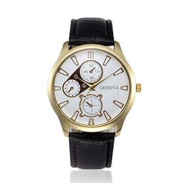 Jyuter12 Herren Gold Steel Dial Quarzuhr Herrenarmband Business Watch Sportuhr - 2