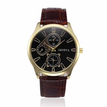 Jyuter12 Herren Gold Steel Dial Quarzuhr Herrenarmband Business Watch Sportuhr - 3